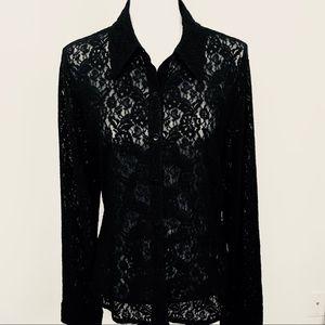 NY & Company | Black Lace Blouse